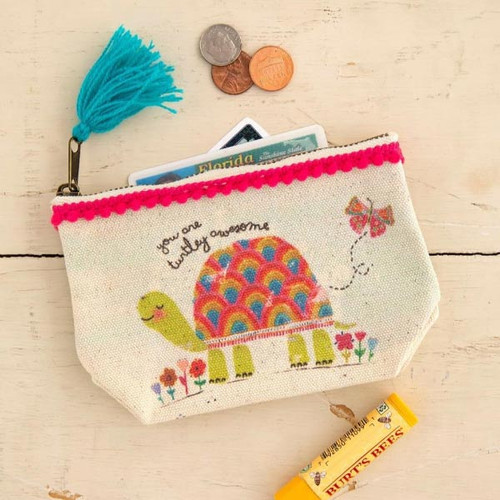 Turtley Awesome Mini Canvas Pouch