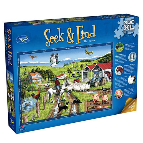300XL Piece Jigsaw: Seek & Find, The Farm