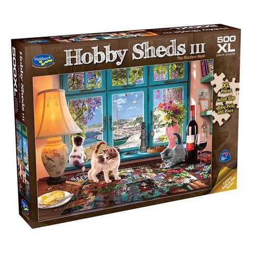 500XL Piece Puzzle: Hobby Shed III, The Puzzlers Nook
