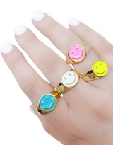 WBS COLORFUL HAPPY RING WHITE