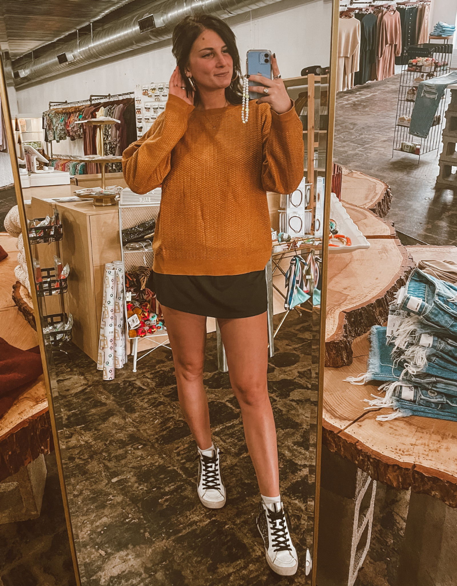 KNIT SWEATER CAMEL