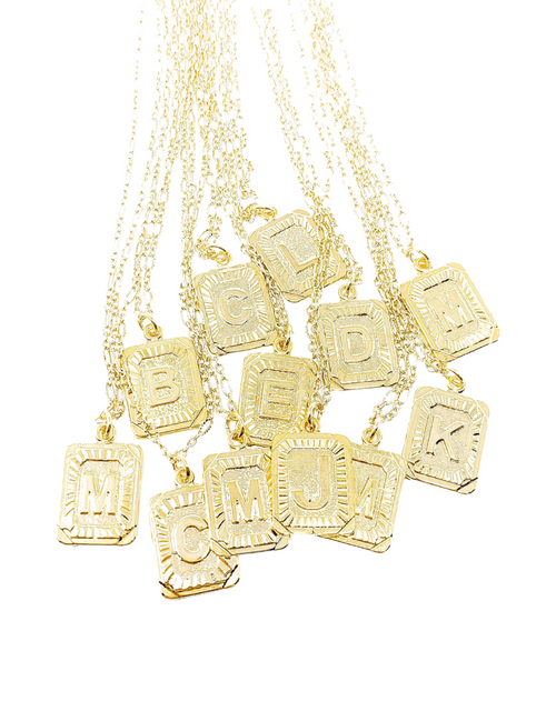 WBS INITIAL PLATE NECKLACE