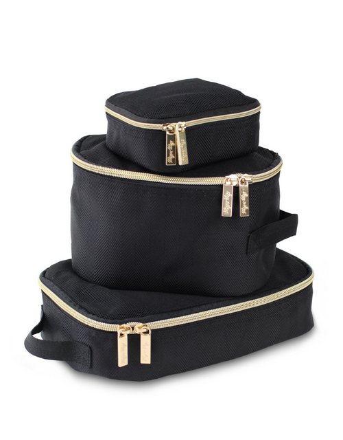 PACKING CUBES BLACK & GOLD