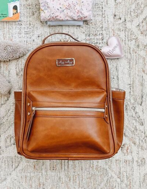 MINI DIAPER BAG COGNAC