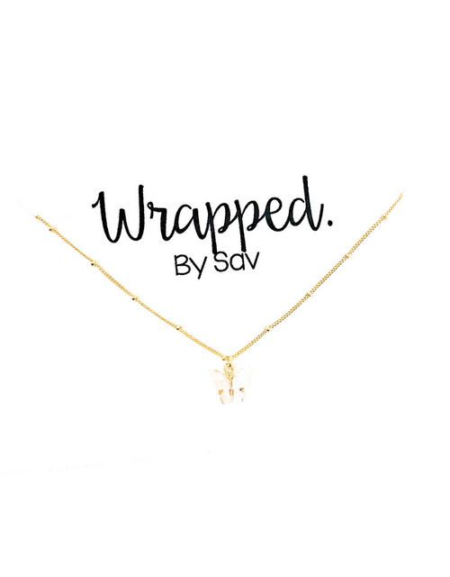 WBS FLUTTER NECKLACE WHITE