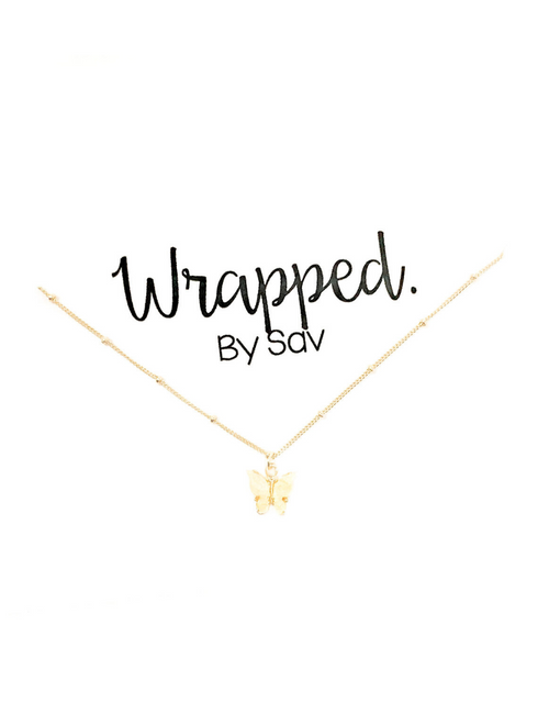 WBS FLUTTER NECKLACE YELLOW