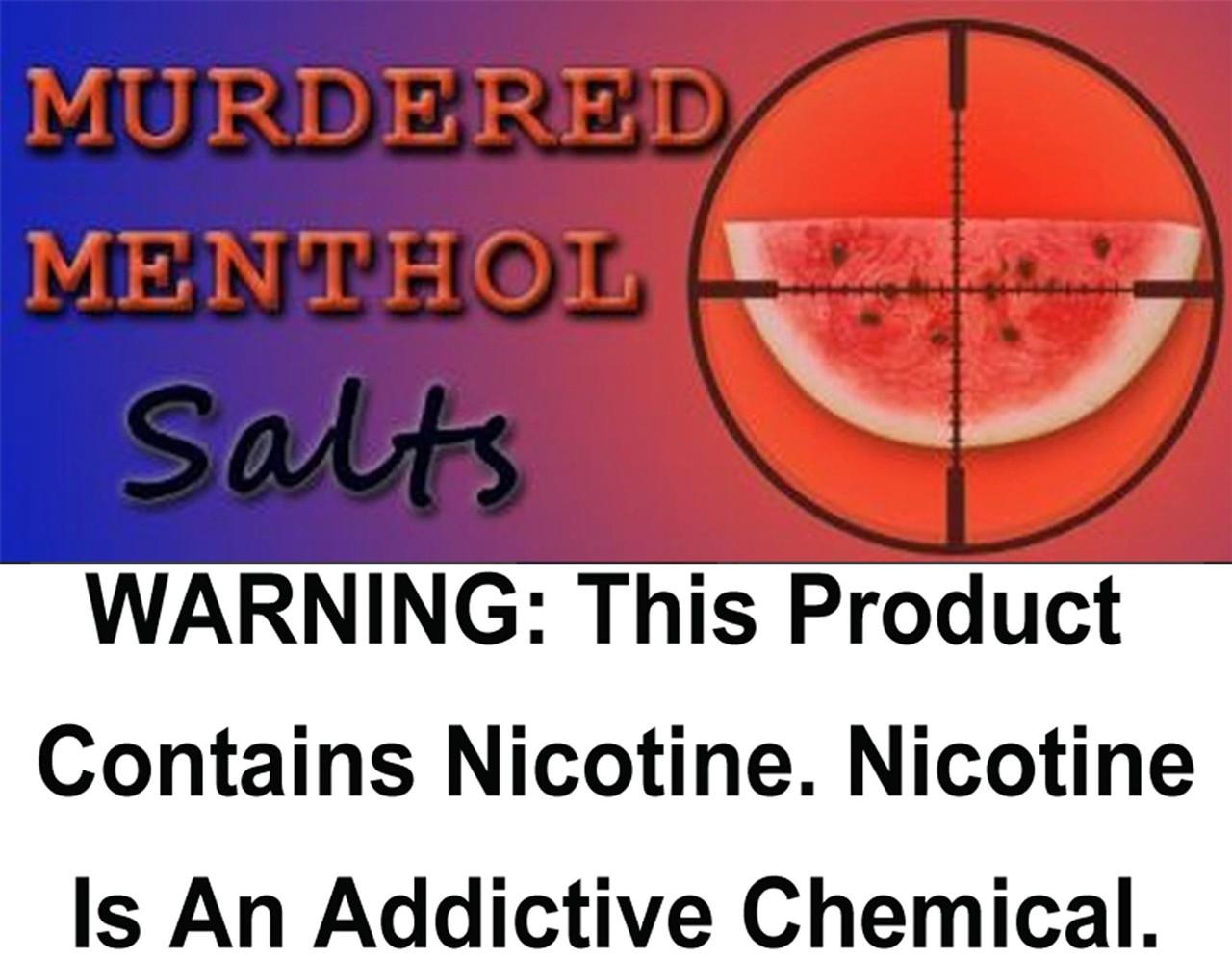 Murdered Menthol - Salt Nicotine 30ml