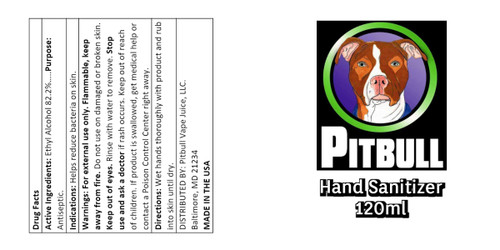 Pitbull Vape Juice Hand Sanitizer