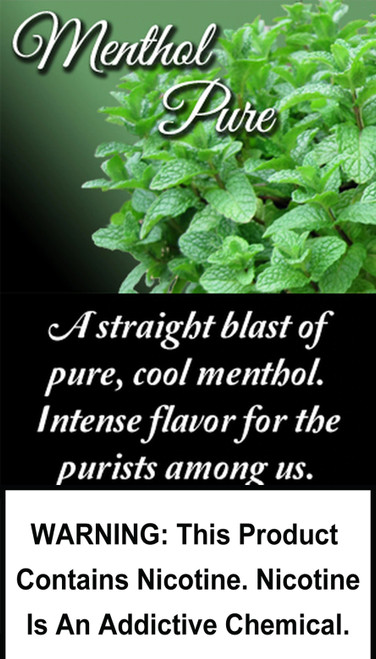 A straight blast of pure, cool menthol. Intense flavor for the purists among us.