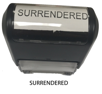 Surrendered Stamp
