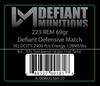 .223 69gr Defiant Defensive Match Ammunition