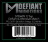 .308 175gr Defiant Defensive Match Ammunition
