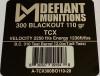 300 BLACKOUT 110 gr TCX (Total Copper X-panding) Solid Copper Defensive Ammunition