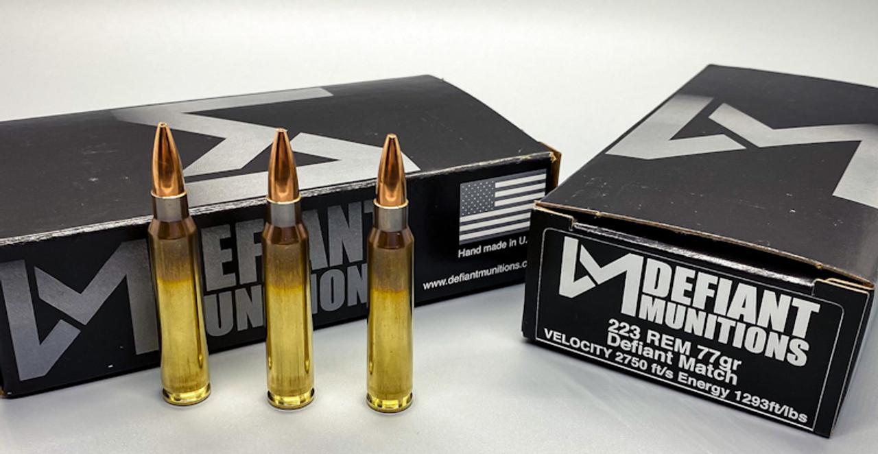 .223 77gr Defiant Match Ammunition