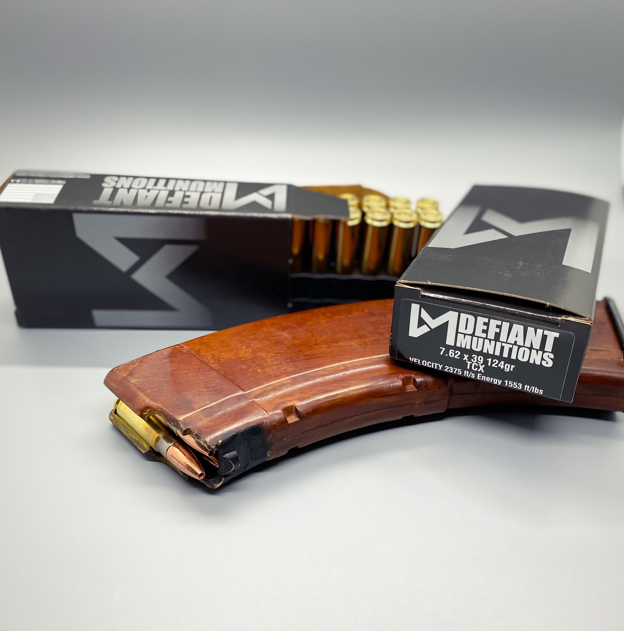 7.62x39 124gr TCX (Total Copper X-panding) Solid Copper Defensive Ammunition