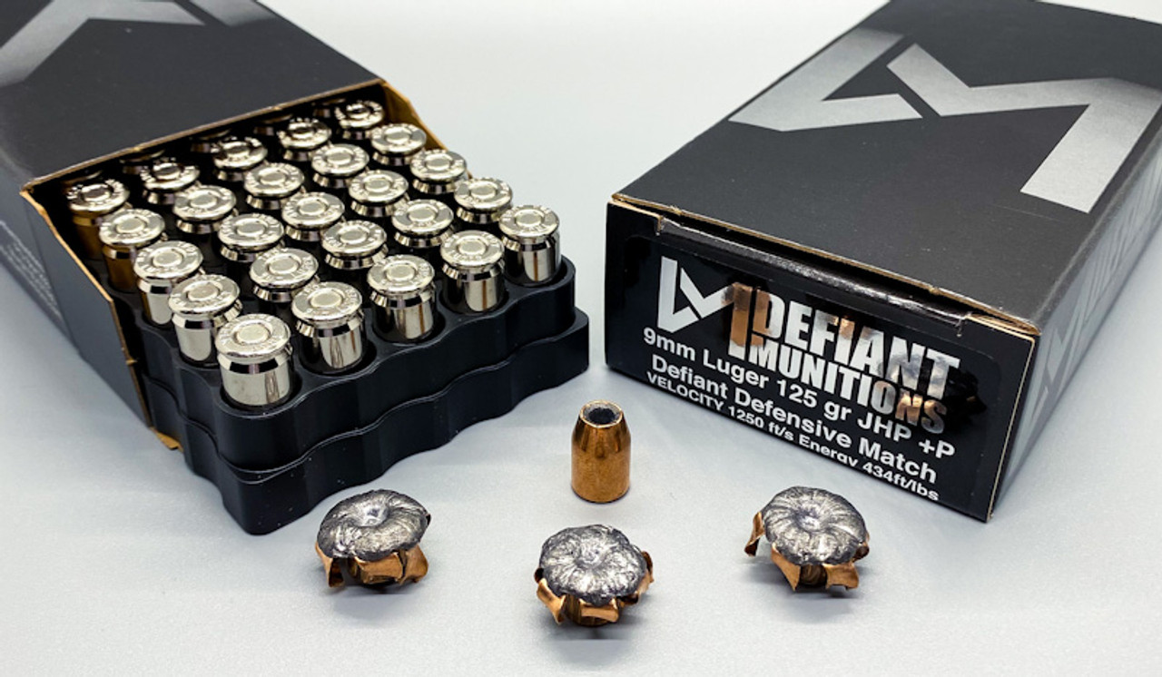 9mm Luger 125 gr +P DDM (Defiant Defensive Match)