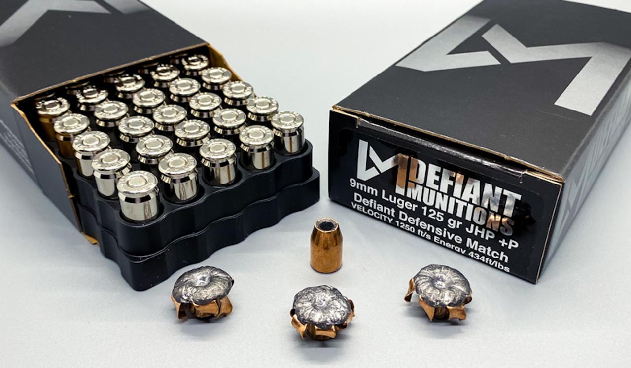 9mm Luger 125 gr +P DDM (Defiant Defensive Match)