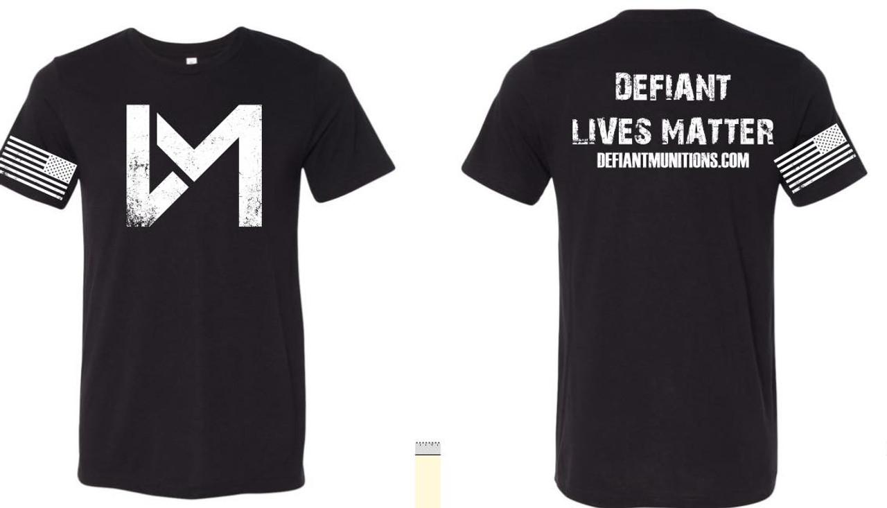 Defiant Lives T-shirt, Black