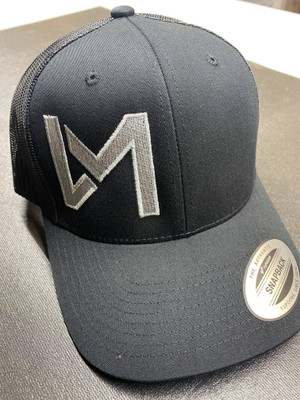*New* DM Logo Trucker Hat, Black