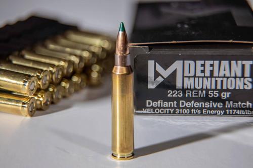 .223 55gr Defiant Defensive Match Ammunition
