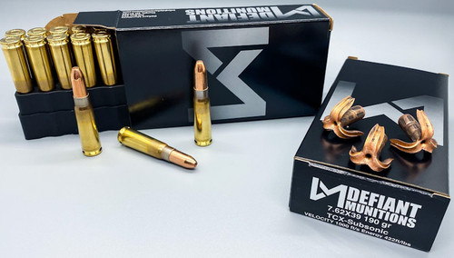 7.62x39 190gr TCX-Subsonic (Total Copper X-panding) Solid Copper Defensive Ammunition