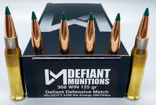 308 WIN 125 gr DDM (Defiant Defensive Match)
