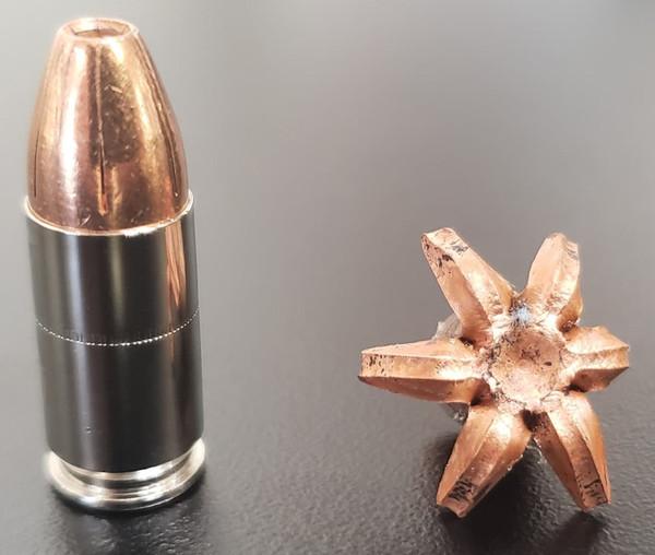 9mm Luger 115 gr +P TCX  (Total Copper X-panding) Solid Copper Defensive Ammunition