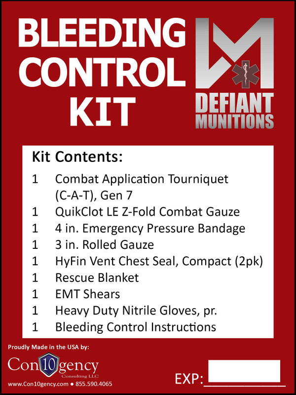 Defiant Munitions Bleeding Control Kit (BCK)