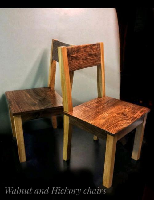 Chairs in Walnut and Hickory