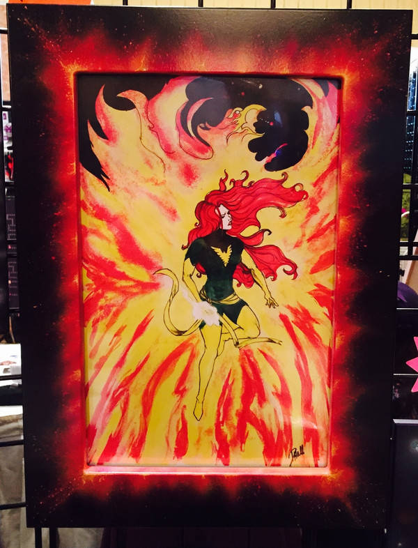 """8 x 10 Toploading Frame in """" Fire"""" Finish"""