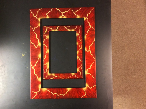 """11x17 Toploading frame """"Lightning"""" Finish"""