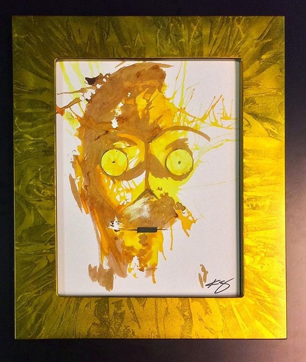 11x 14 in Marbelized Gold finish (artwork by Kevin Eslinger not included)