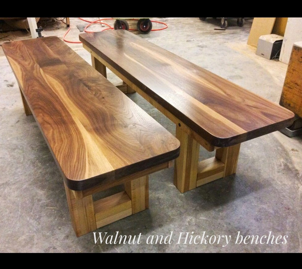 Bench Seating in Walnut and Hickory
