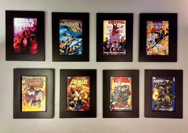 Box of six Comic Book frames