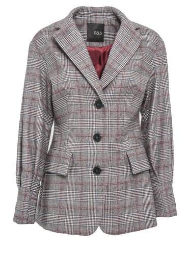 Plaid Tailored Blazer With Loop Sleeves | Claire