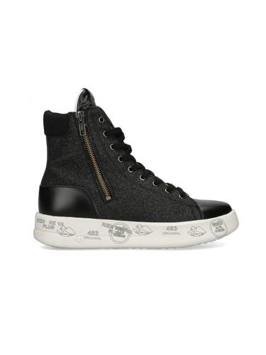 Premiata High-Top Leather Sneakers | Edith