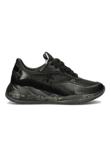 Premiata Black Leather Sneakers  |Scarlet