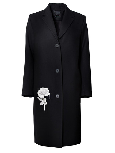 Single Breasted Virgin Wool Midi Coat |  Roselyn