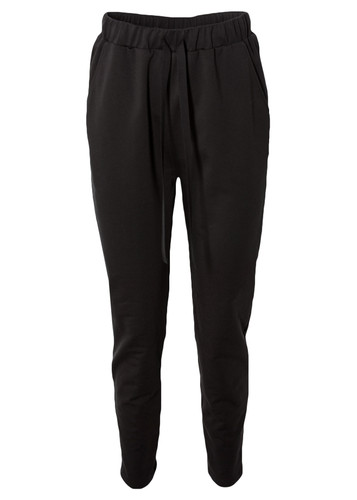 Black Sweat Track Pants  With Rubber Waist And Pockets  | Inna