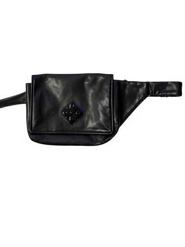 Black Eco-Leather Belt Bag With Nolo Logo Patch | Wilma