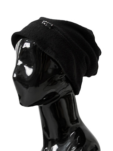 Black Double Beanie With Decor | Bennie