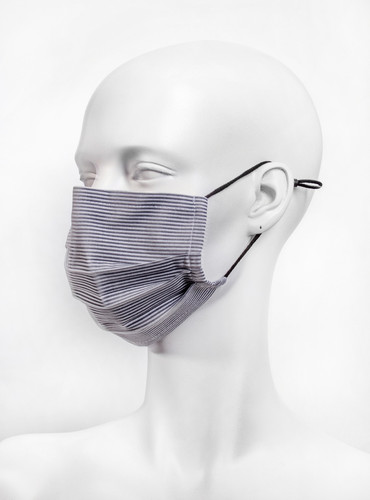 Adjustable Multi-Grey  Reusable Face Mask With Nose Wire | Stripes
