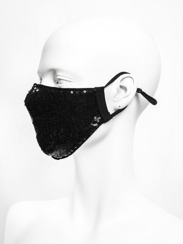 Sequins Jersey Two Layer Reusable Face Mask | Nolo Festive