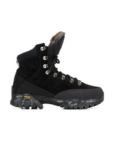 Premiata  Warm Winter Boot in Black | Midtrek