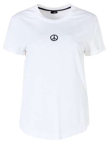 White Regular Fit T-Shirt With  Print | Peace
