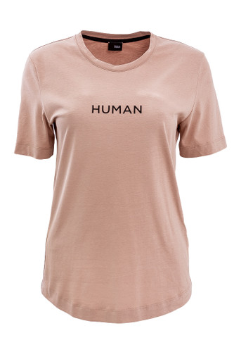 Nude Regular Fit T-Shirt With Patent Print | Human