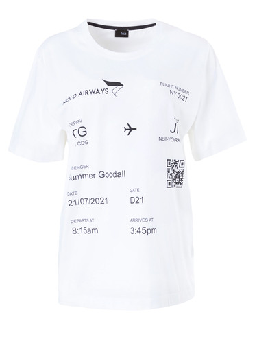 White Regular Fit T-Shirt With Patent Print | CDG