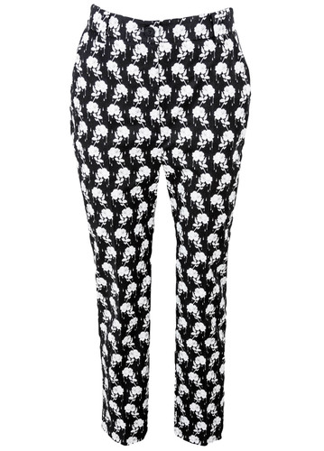 Tailored Cigarette Trousers  With Exclusive Nolo Design Print | Zoey