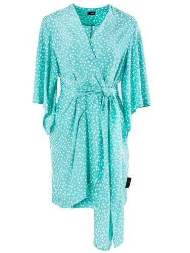 Tiffany Polka Dot   Wrap Mini Dress    Arielle