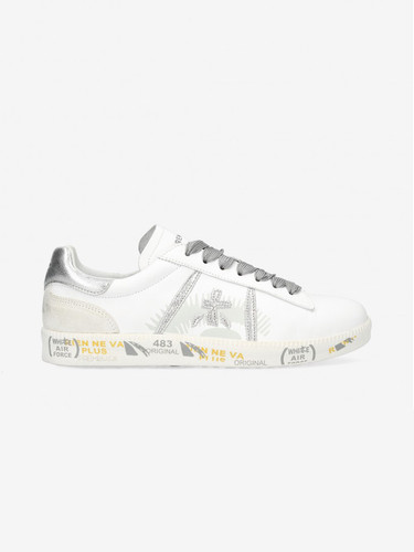 Premiata Soft Leather White Sneakers | Andyd